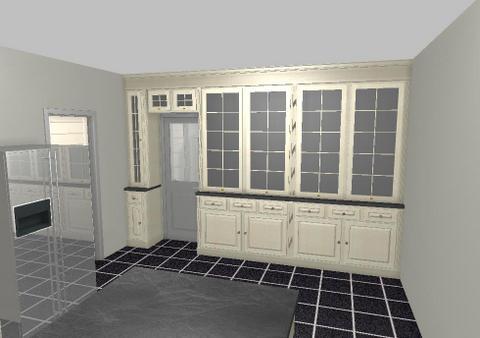 Keuken Wandkast 8 : Keuken zicht vitrine wandkast u interieurbouw de clercq