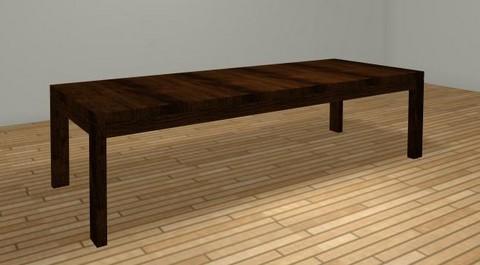 Weng uittrekbare tafel zicht 1 uitgetrokken for Uittrekbare tafel